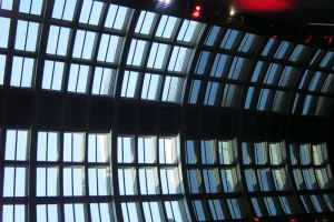Interior view of roof lights replaced, Earth Hall, Natural History Museum.