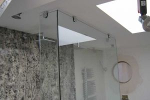 Three part shower enclosure, Old Basing.