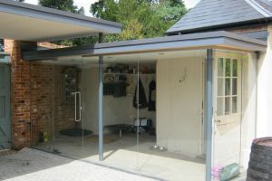 Frameless Toughened Glass Walls and Doors, North Warnborough.