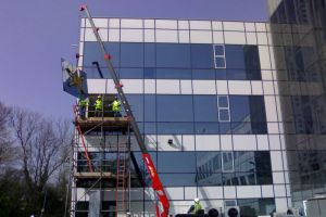 Large sealed unit glazed to 2nd floor, Intec Basingstoke.